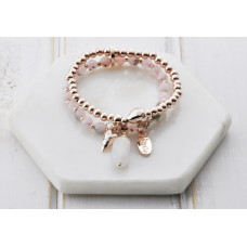 Rose & Pink 2 Layer Bracelet
