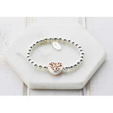 Mixed Heart Pedant Bracelet