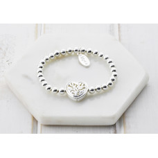 Silver Heart Pendant Bracelet - in a Box