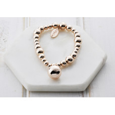 Rose Gold Bead With Ball Bracelet