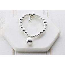 Silver Bead With Ball Bracelet