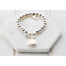 Rose Gold & Silver Disc Bracelet