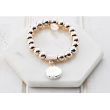 Mixed Silver & Rose Gold Bead Favourite Bracelet