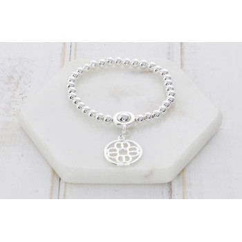 Silver Cut Out Pendant Bracelet
