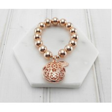 Rose Gold Bracelet With Round Pendant