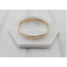 "Gold ""By The Way I Am Wearing The Smile You Gave Me"" Bangle"