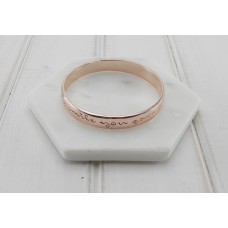 "Rose Gold ""By The Way I Am Wearing The Smile You Gave Me"" Bangle"