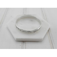 "Silver ""By The Way I Am Wearing The Smile You Gave Me"" Bangle"