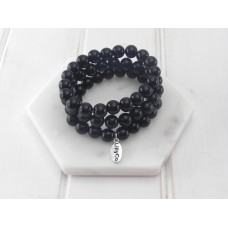 Black Resin Bead Pack Of 3 Bracelet
