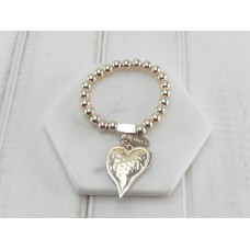 Gold Love Heart Bracelet
