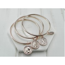Rose Gold Coin Bangles