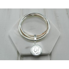 Mixed Bangle With Coin