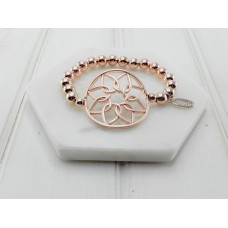 Rose Gold Flower Bracelet