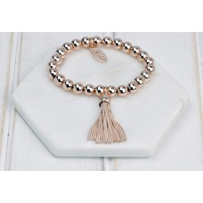 Rose Gold Tassel Bracelet