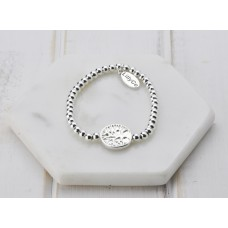 Silver With Tree Disc Bracelet