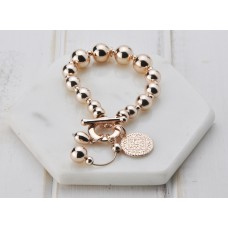 Rose Gold & Disc Bracelet