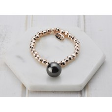 Rose Gold with Hematite Ball Bracelet