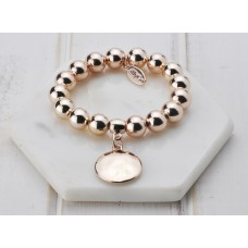 Rose Gold Disc Bracelet