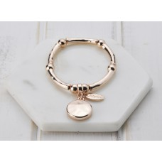 Rose Disc Stretch Bangle Bracelet