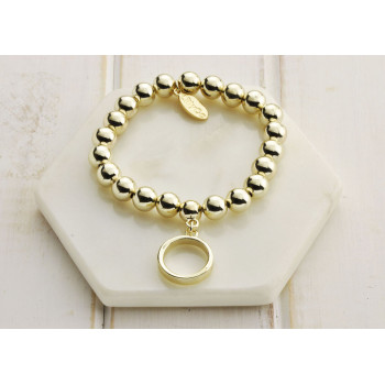 Gold Ring Bracelet - LARGER SIZE BRACELET