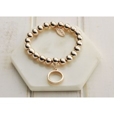 Rose Gold Ring Bracelet - LARGER SIZE BRACELET