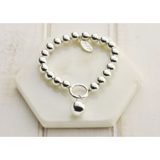 Silver Battered Ball Bracelet - LARGER SIZE BRACELET