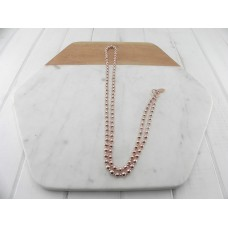 Rose Gold Beads With Ring Necklace