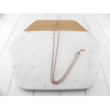 Rose Gold Ball Chain Necklace