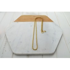 Gold Ball Chain With O Ring Necklace