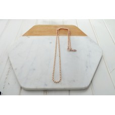 Rose Gold Ball Chain With O Ring Necklace