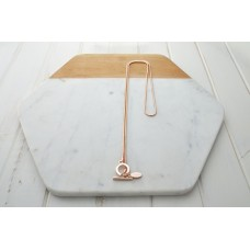 Rose Gold Snake Chain with O Ring Necklace