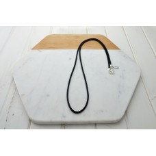 Black Wax Cord Necklace