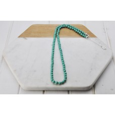 Turquoise Resin Bead Chain Necklace