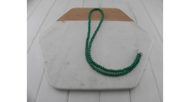 Green Wood Bead Necklace