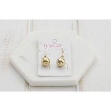 Gold French Hook Earring