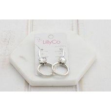 Crystal & Silver Ring Earring