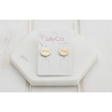 "Gold ""OXOX"" Earring"