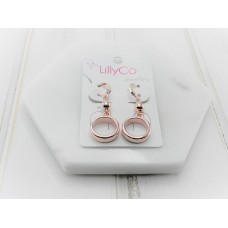 Rose Gold Ring Earring