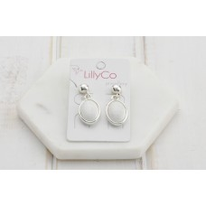 White Resin Earring