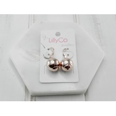Rose Gold Ball Earring