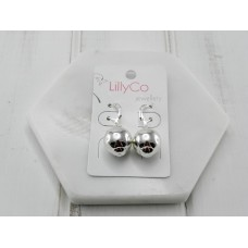 Silver Ball Earring