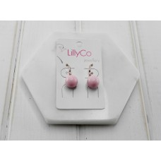Rose Pink Resin Earring