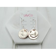 Rose 2 Battered Disc Earring
