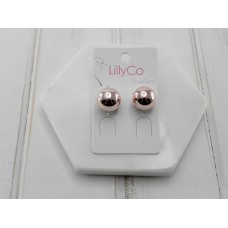 Rose Gold Button Earring