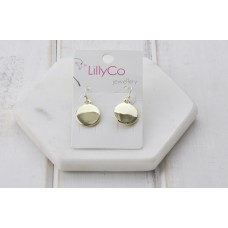 Gold Smooth Disc Earring
