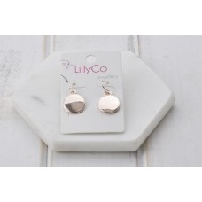 Rose Gold Smooth Disc Earring
