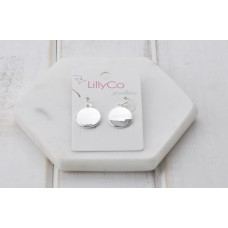 Silver Smooth Disc Earring