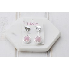 Pink Stone Drop Earring