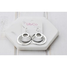 Hematite 3 Rings Earrings