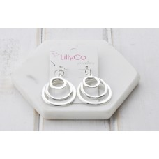 Silver 3 Ring Earring